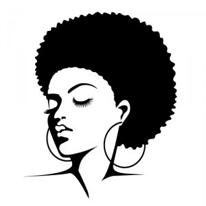 Afro hair Silouette