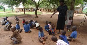 Busiro primary School Children during a class session